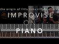 Improvising On Piano Licks Riffs Fills And Pattern Fundamentals mp3