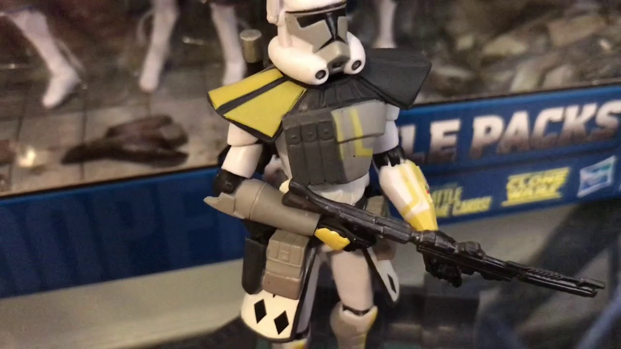 Star Wars The Clone Wars I Arc Trooper Battle Pack Review! - YouTube