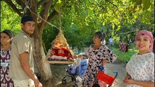 Узбекистан ! Как проходит новоселье в деревне. Кишлак ! виноградные плантации
