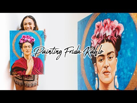 painting-frida-kahlo-|-paint-with-me!-acrylic-on-canvas