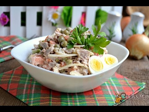 салат мясной фото