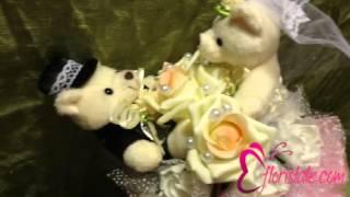 Свадебный букет из мишек от гостей С-04