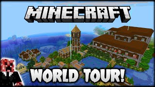 I DID ALL OF THIS IN MINECRAFT IN 2 MONTHS! (WORLD TOUR!) | Let's Play Minecraft Survival