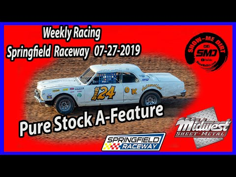 Pure Stock A-Feature - Springfield Raceway 7-27-2019 #DirtTrackRacing @Midwest Sheet Metal http://msmfab.com/ @ShowMeDirt.com For photos head over ... - dirt track racing video image