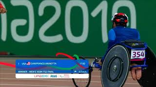 U.S. goes 1-2 In Men's T52 100m | Parapan American Games Lima 2019