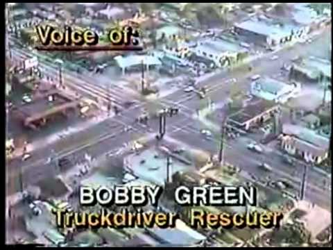 North America - US - Rodney King Riots - 19920430 - Los Angeles - Truck driver on the ground .