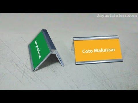 081310045708 Food Tag Display Nama Makanan Holder Name Hlder