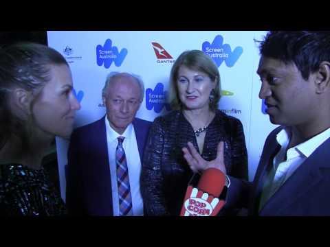 John, Sue & Saroo Brierley I Australian Oscar Nominees Reception I with Popcorn Talk Network host J