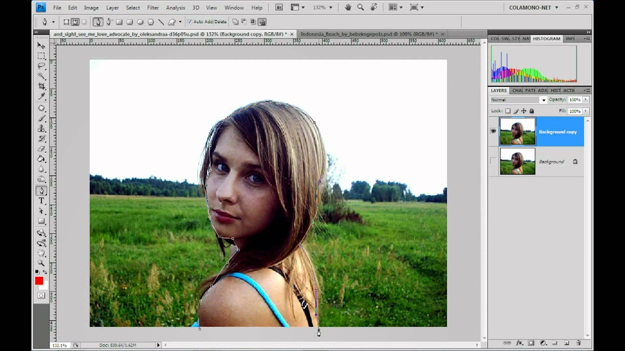 how to change the background of a photo photoshop mac