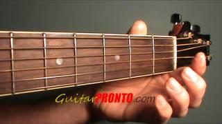 a major guitar chord - 3 easy steps