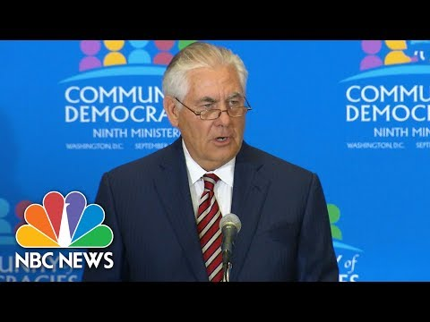 After Latest Missile Launch, Rex Tillerson Calls North Korea A 'Global Threat' | NBC News