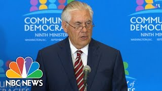 After Latest Missile Launch, Rex Tillerson Calls North Korea A 'Global Threat' | NBC News thumbnail