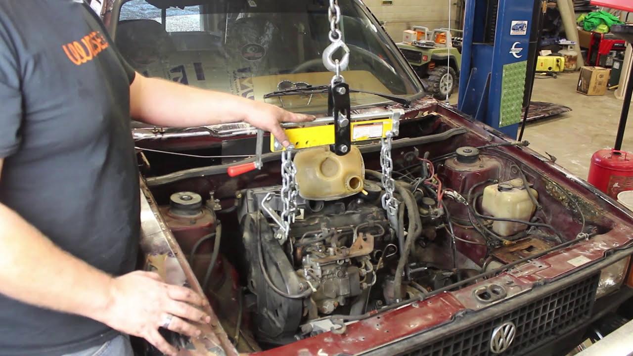Mk1 Rabbit Pickup (Caddy) Diesel Engine Removal For Aaz Swap  Video 1 Of  The Series  Vwdiesel Net 22:37 HD