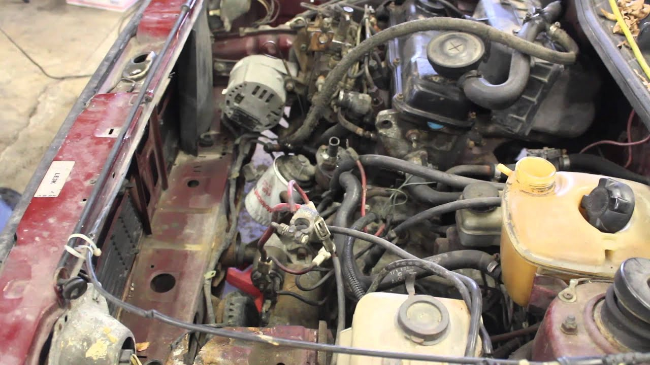 hight resolution of mk1 rabbit pickup caddy diesel engine removal for aaz swap video 1 of the series