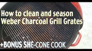 "Cleaning and Seasoning vintage 26"" grates ++ BONUS SHE-CONE COOK screenshot 1"