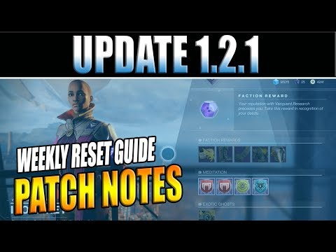 Destiny 2 | Update 1.2.1 Patch Notes, Exotic Armor Changes, & Crucible Labs!