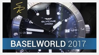 Glycine Airman 42 mm Double Twelve Automatic Black Dial | Glycine 2017 YouTube Videos