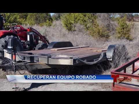 Aguacil de Aransas recupere trailers y tractores robados de su condado