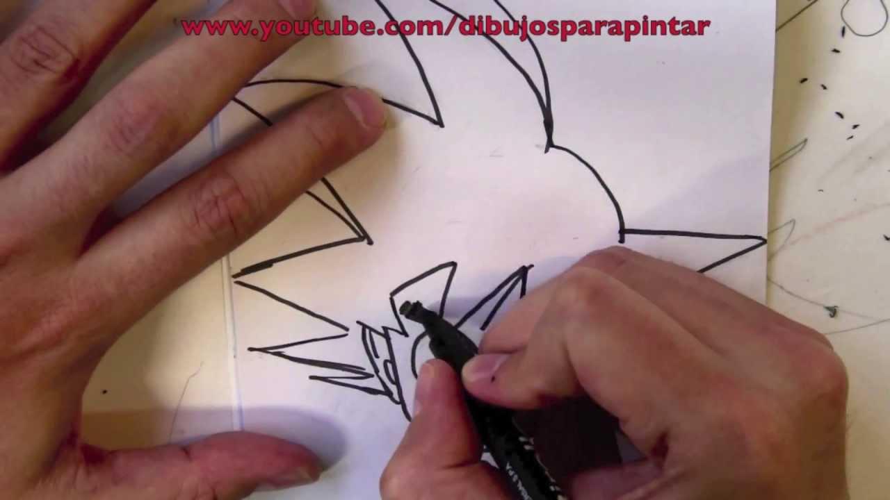 Cmo dibujar a Goku paso a paso a lpiz y rotulador  Dibujos para