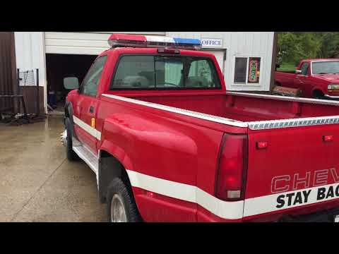 1994 Chevy Cheyenne 3500 Dually Pickup - Retired Fire Truck for sale