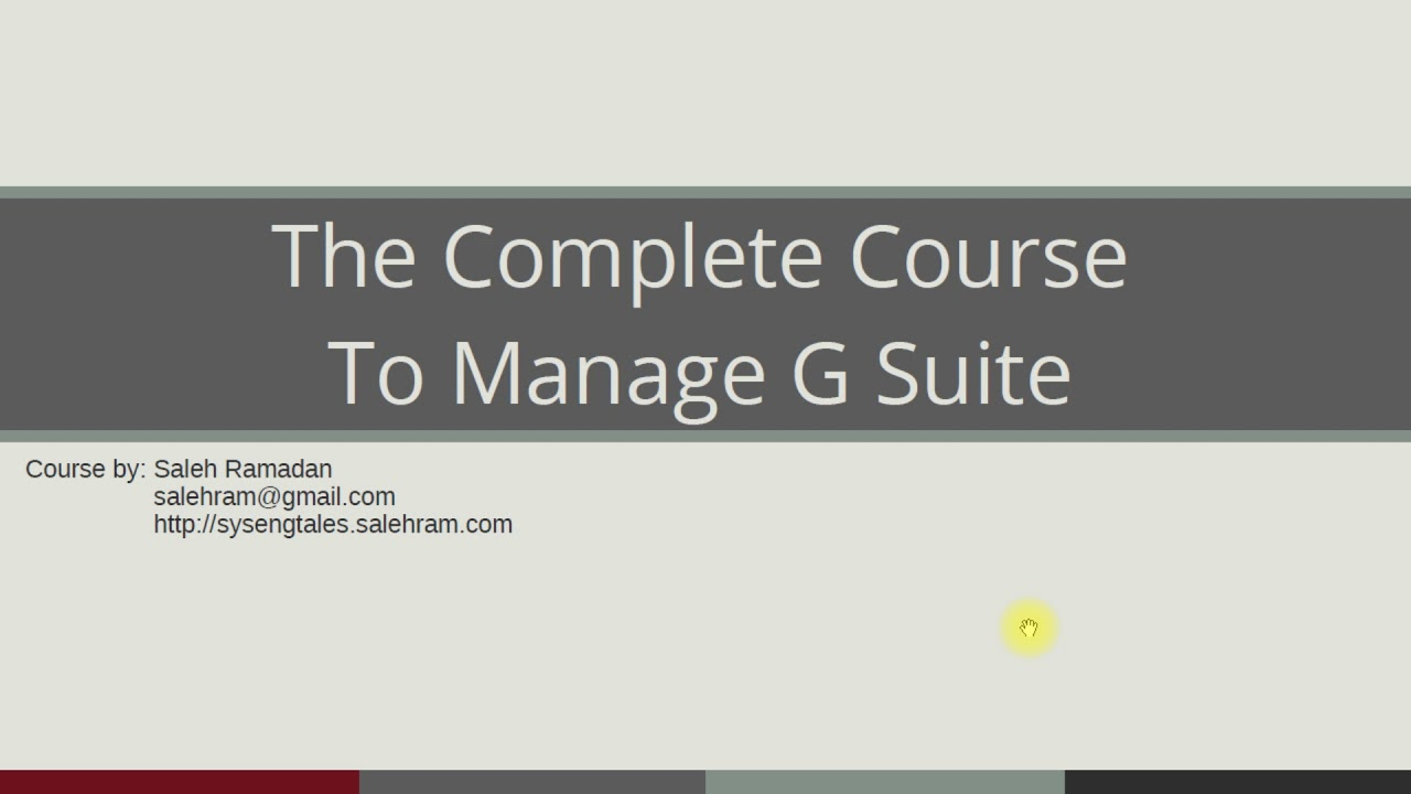 G Suite Administrator Training Course Trailer Youtube