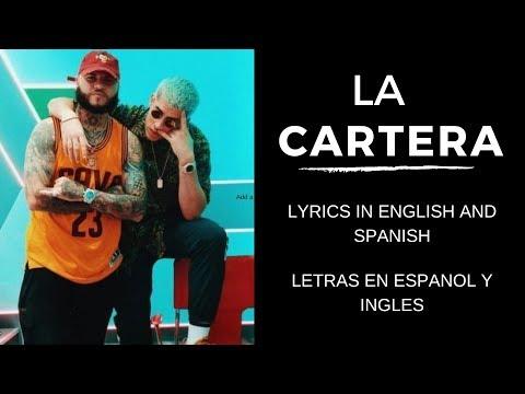 La Cartera (English and Spanish Lyrics)