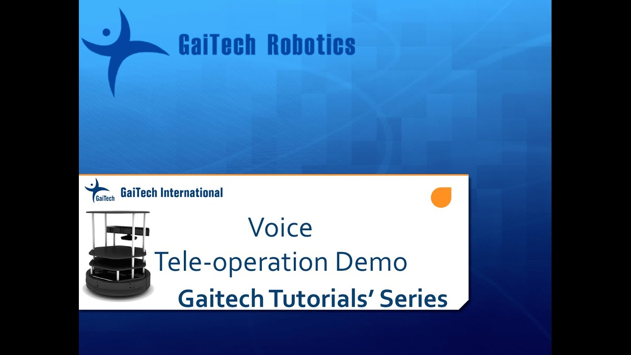 Turtlebot Voice Teleoperation — Gaitech EDU 2 5 documentation