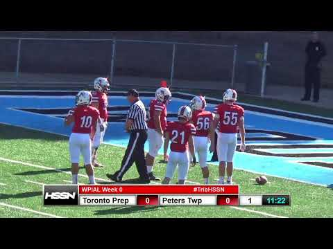WPIAL Football - West Toronto Prep (Can) vs Peters Township