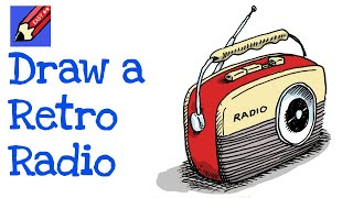 How to draw a Retro Radio Real Easy