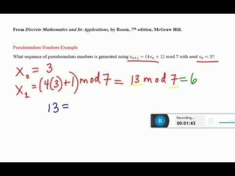 Section 4.5 Pseudorandom Numbers