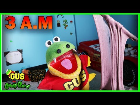 DO NOT MAKE FLUFFY SLIME AT 3AM! 3AM CHALLENGE OMG SO SCARY