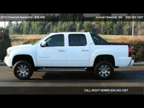 2010 chevrolet avalanche 1500 lt 4wd for sale in the best of the best wa 98390 youtube. Black Bedroom Furniture Sets. Home Design Ideas