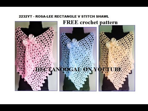 Rectangle Crochet Shawl Top Down Free Crochet Pattern 2232 Youtube