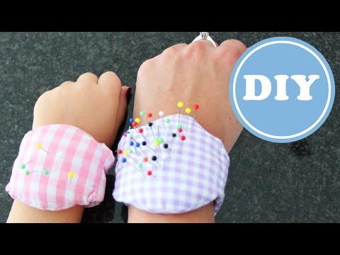 Nadelkissen für das Handgelenk nähen | DIY | aus Stoffresten | Schnittmuster gratis