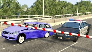 Beamng drive - Low Clearance Bar car Crashes