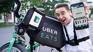 J'ai essayé de faire LIVREUR avec UberEats pendant 1h!