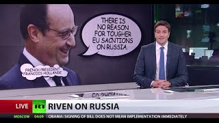 French President floats idea of easing sanctions on Russia