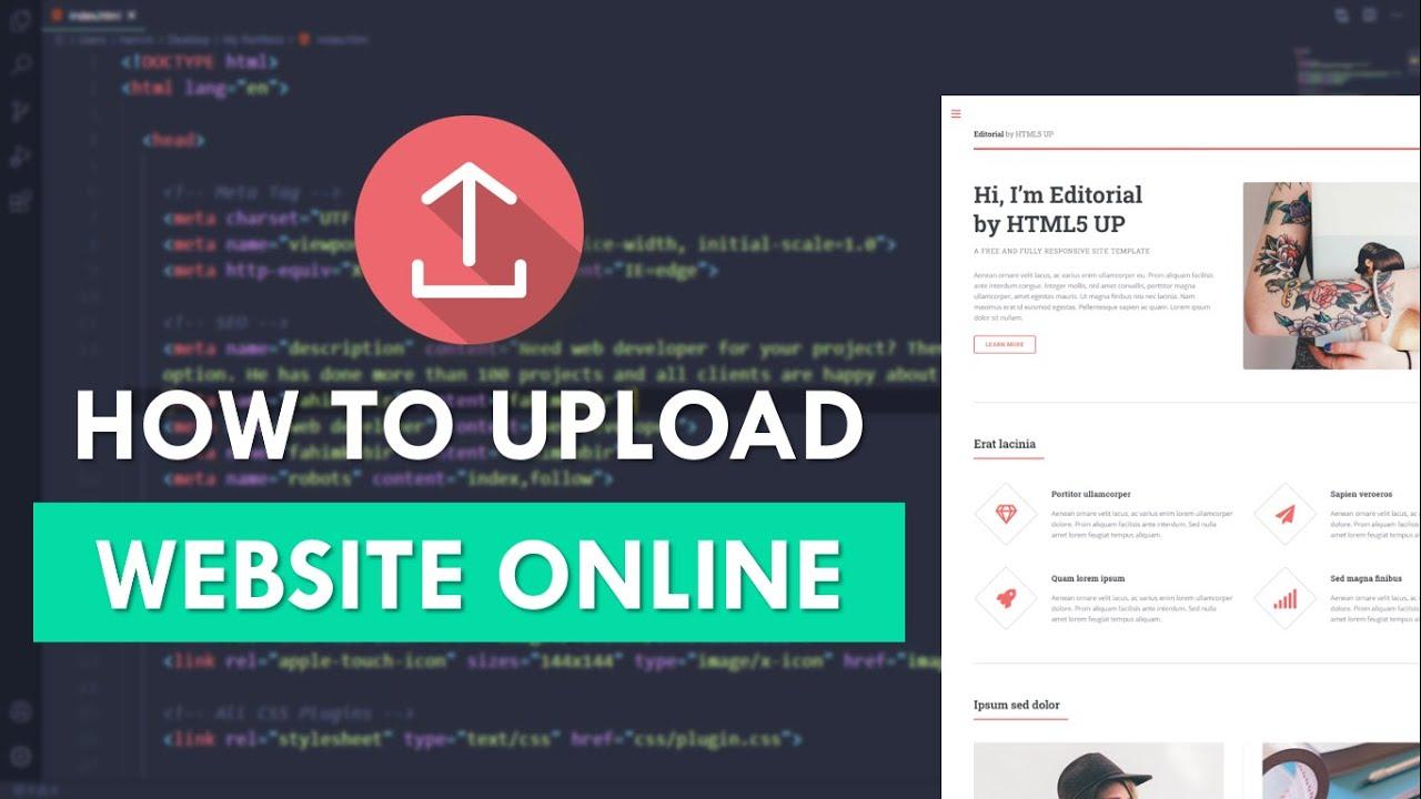 Upload your website to live server: Templet, Domain, Hosting, cPanel
