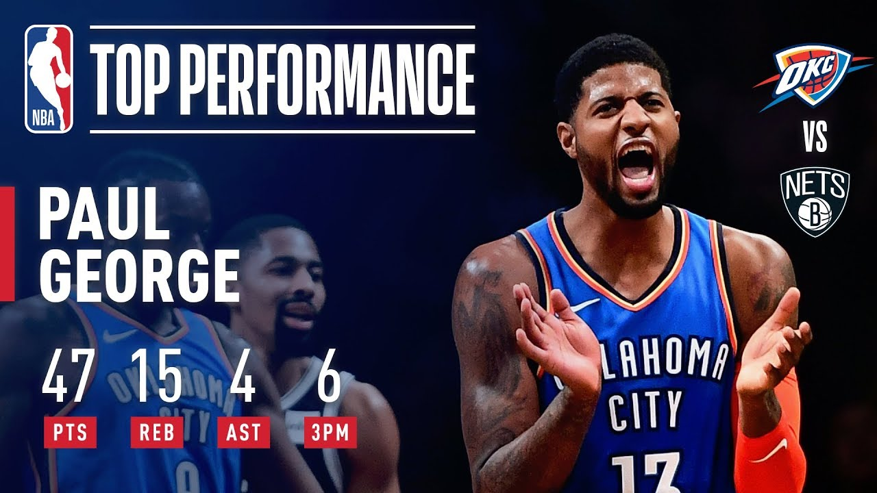 Paul George s 25 4th Quarter Points Lead OKC in Comeback Win Over Brooklyn   4f5a69d43