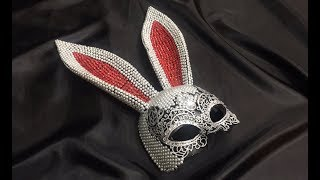 маска из бумаги и страз. rabbit mask