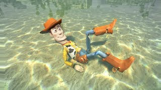 GTA 5 Water Ragdolls WOODY Jumps/Fails (Euphoria Physics Funny   Moments)