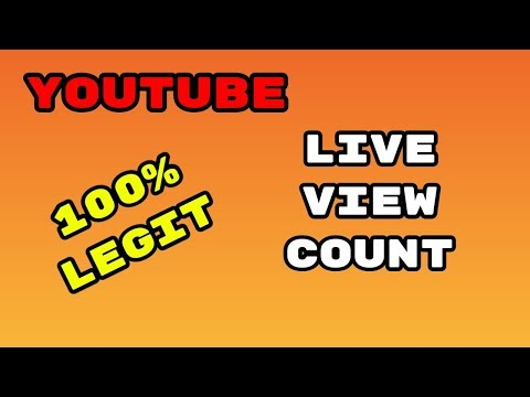 How to Find Your LIVE VIEW COUNT ON YOUTUBE! (100% real)