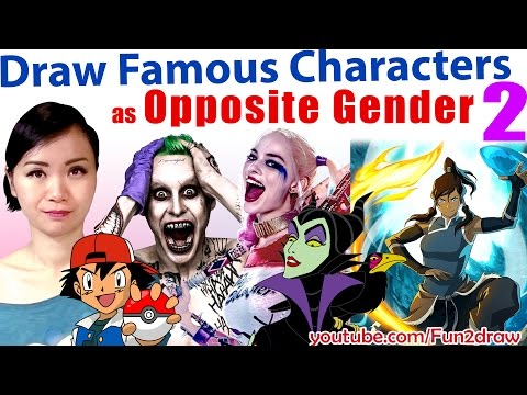 Amazing Art Video - Drawing Famous Movie Characters as Opposite Gender 2