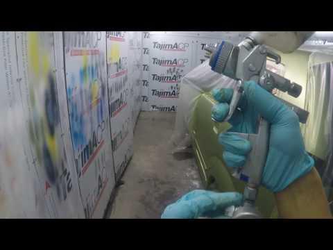 Body Repair Avanza Penyok Part 2 ( Masking & Painting )