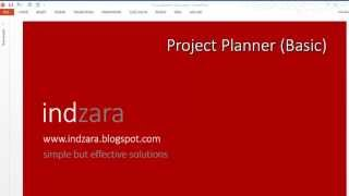 Project Planner (basic) Excel Template - Part 1 - Introduction
