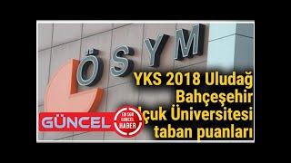 YKS 2018 uludağ, bahçeşehir, selçuk Üniversitesi Taban Puanları Sorgula ÖĞREN