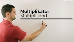 Multiplikator, Multiplikand, Faktoren, Produkt, Rechenarten, Sprechweisen | Mathe by Daniel Jung