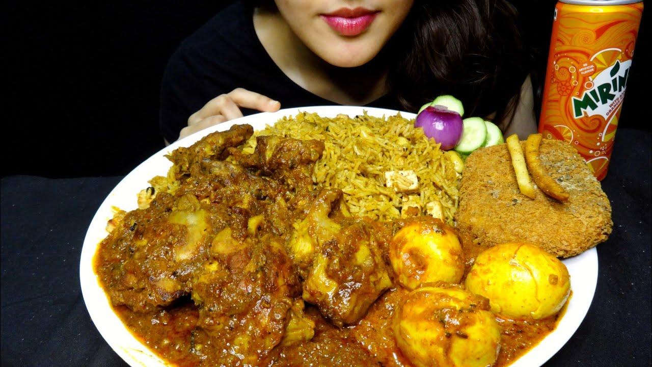 ASMR : Eating Chicken Kabab Masala | Egg Curry | Paneer Biriyani | Fish Fry | Biriyani Chicken Curry