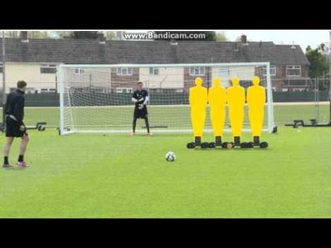 Steven Gerrard stunning free kick(Training)