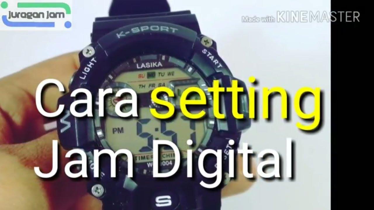 Cara Setting Jam Digital Youtube